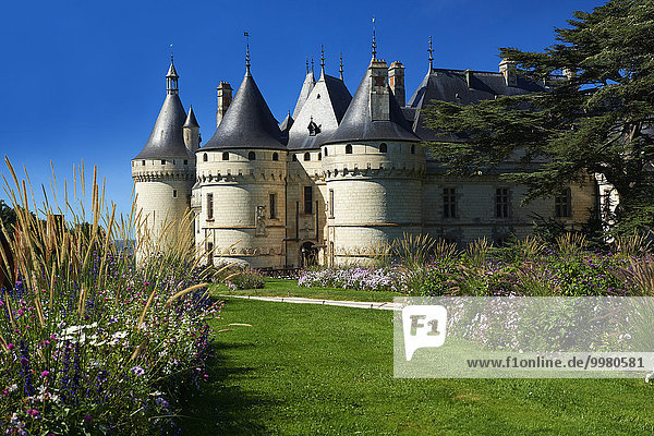 Im 15. Jahrhundert erbautes Schloss Château de Chaumont  Chaumont-sur-Loire  Département Loir-et-Cher  Frankreich  Europa