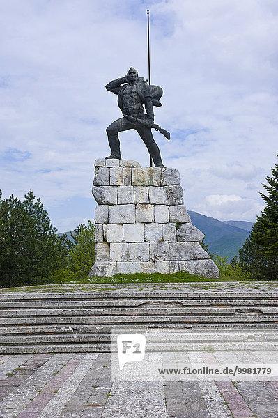 König Zog-Denkmal  Bajram Curri  Albanien  Europa