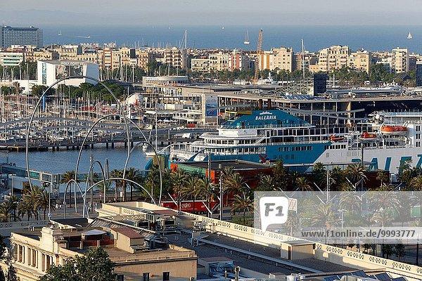 Hafen Gebäude Boot Fähre Barcelona