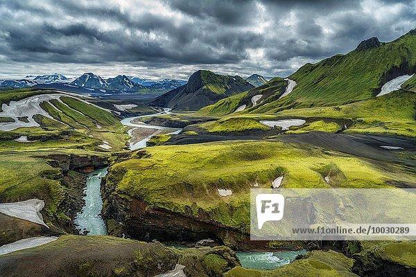 Hintergrund Island Thorsmörk
