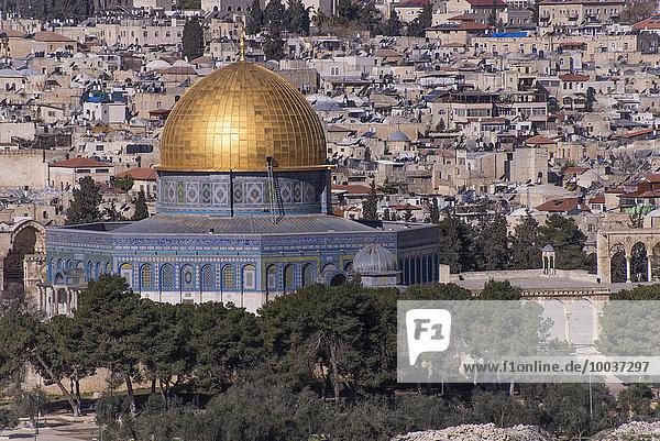Felsendom  qubbat as-sachra  Kipat Hasela  Altstadt  Jerusalem  Israel  Asien
