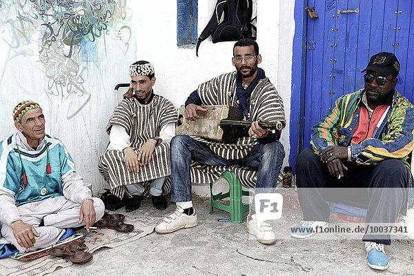 Musiker  Asilah  Marokko  Afrika