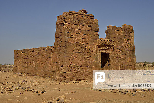 Löwen-Tempel für den Löwen-Gott Apedemak  Naga  Nubien  Nahr an-Nil  Sudan  Afrika