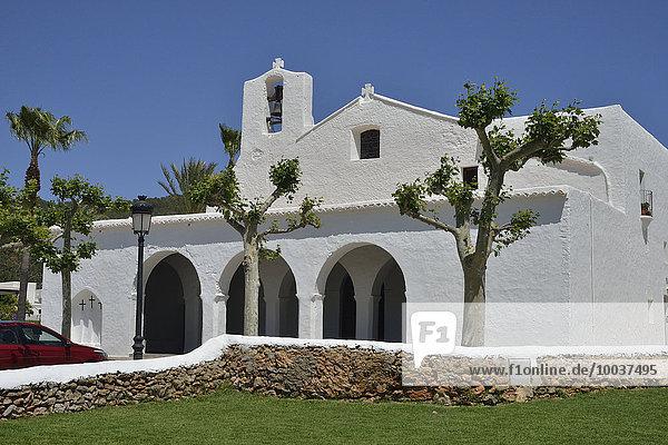 Kirche Església de Sant Carles  Sant Carles de Peralta  Ibiza  Balearen  Spanien  Europa