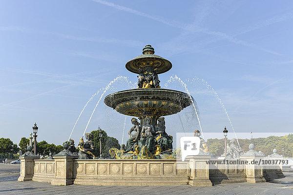 Fontaine des Fleuves  Brunnen der Flüsse  Place de la Concorde  Paris  Frankreich  Europa