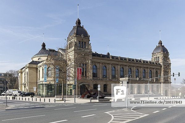 Civic hall of Wuppertal  historic town hall at Johannisberg  Wuppertal  Bergisches Land  North Rhine-Westphalia  Germany  Europe
