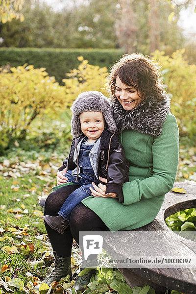 lächeln Sohn Mutter - Mensch
