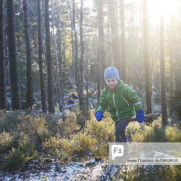 gehen Junge - Person Wald