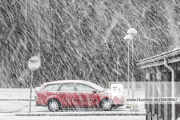 Winter Auto Fernverkehrsstraße