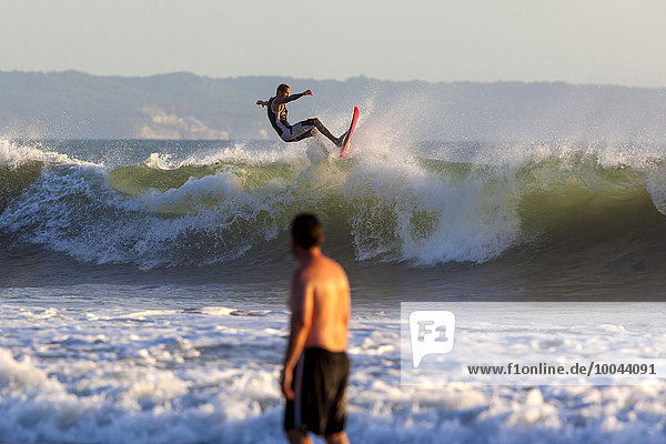 Indonesia  Bali  Surfing a wave