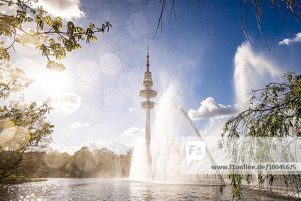 Deutschland  Hamburg  Planten un Blomen Park und Fernsehturm Deutschland, Hamburg, Planten un Blomen Park und Fernsehturm