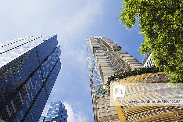 Republik Singapur  Singapur  Büroturm Asia Square Tower und Wohnhochhaus One Shenton Tower