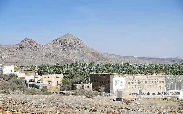 Arabien  Oman  Al Hamra  Lehmhaus