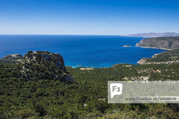 Griechenland  Rhodos  Die Burg von Monolithos
