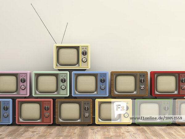 3D Rendering  alte Fernseher 3D Rendering, alte Fernseher