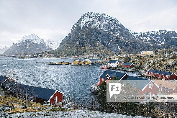 Fishing village of  Reine  Lofoten  Norway