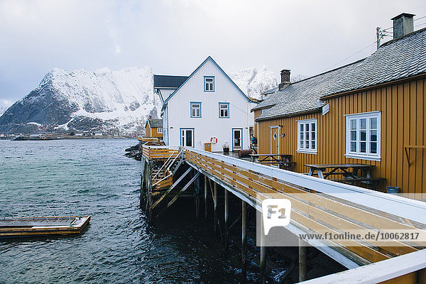 Traditionelle Gebäude  Reine  Lofoten  Norwegen