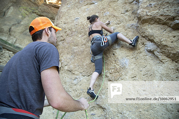 Felsenkletterer  Smith Rock State Park  Oregon
