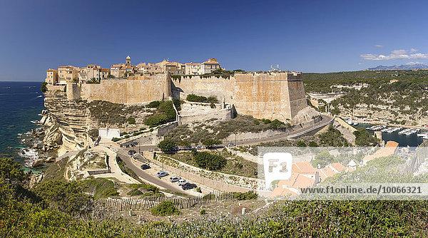 Altstadt und Hafen  Bonifacio  Korsika  Frankreich  Europa