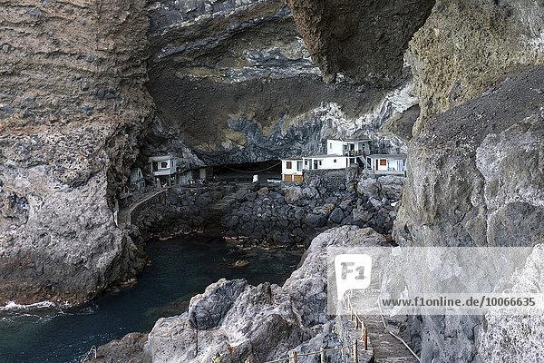 Proís de Candelaria,  Cueva de Candelaria,  ehemaliges Piratennest bzw. Schmugglernest,  bei Tijarafe,  La Palma,  Kanarische Inseln,  Spanien,  Europa