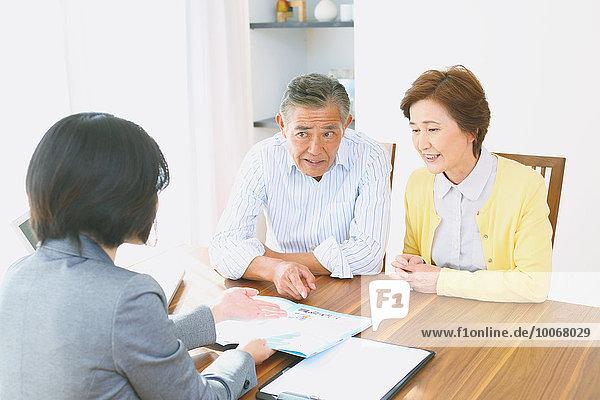 Senior Senioren Rat Finanzen Planung und Organisation japanisch