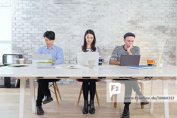 Mensch, Büro, Menschen, arbeiten, multikulturell, Business, modern