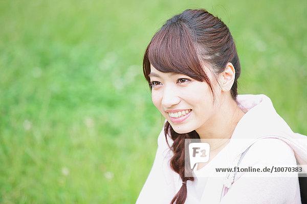 Portrait Attraktivität Student jung japanisch Universität