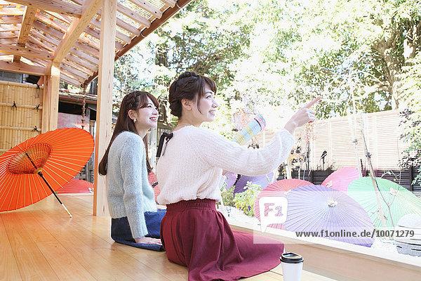 Frau Fröhlichkeit Spa jung japanisch