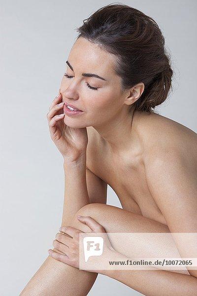 Nahaufnahme einer nackten Frau