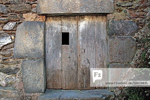 Katalonien Spanien Holztür
