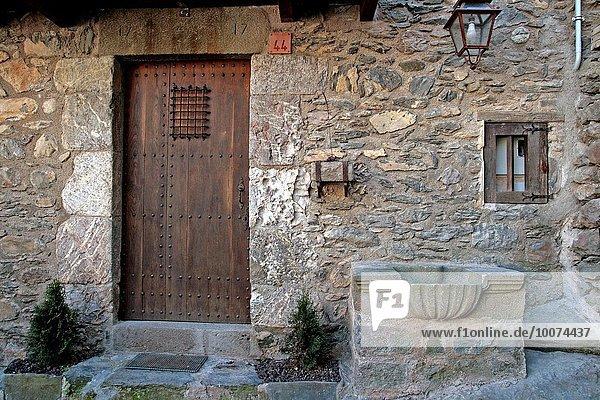 Tür Gebäude Katalonien Spanien