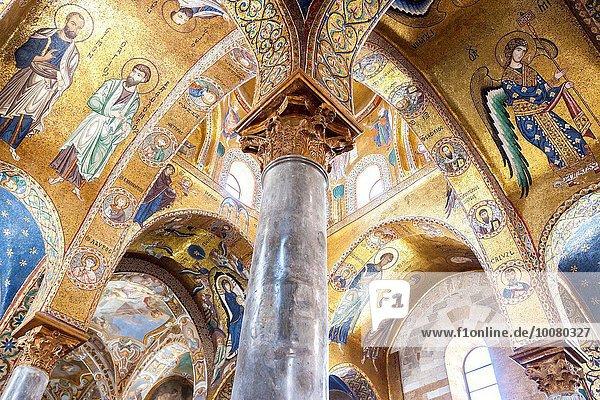 Reichtum Italien Palermo Sizilien Innenansicht einer Kirche