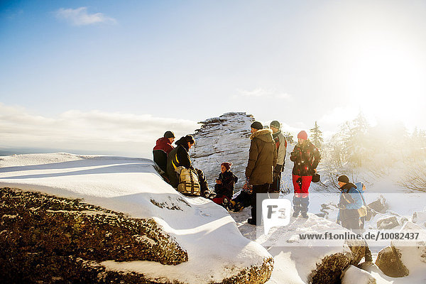 Europäer Schnee Anordnung wandern klettern