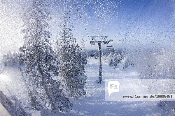 Stuhl heben über Schnee Gondel Gondola
