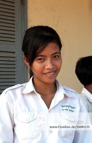 nahe Schule (Einrichtung) Grad Celsius ernten Mädchen 7 sieben