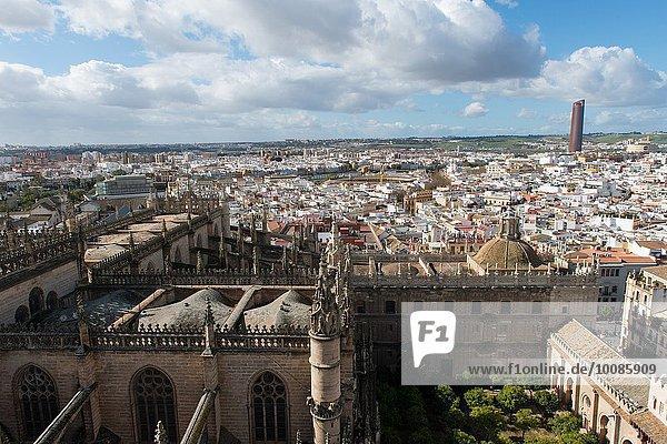 Ansicht Sevilla Andalusien Glocke Spanien
