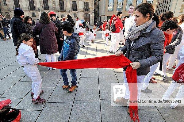 Fest festlich Heiligtum Barcelona Katalonien Spanien