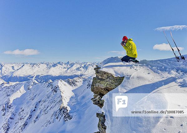Berggipfel Gipfel Spitze Spitzen Schnee fotografieren Fotograf