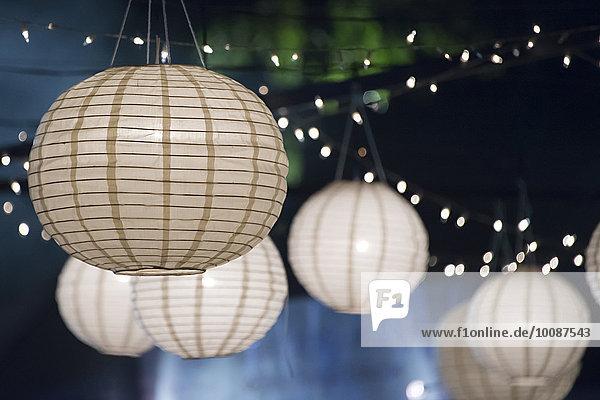 Papier Nacht Beleuchtung Licht Close-up Faden Laterne - Beleuchtungskörper Saite