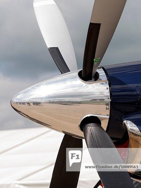 Fest festlich britisch Luftverkehr polieren Chef Northamptonshire Luftfahrzeug Propeller