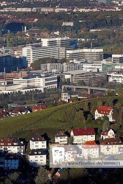 Auto Ansicht Erhöhte Ansicht Aufsicht Weinberg heben Daimler-Chrysler Fabrikgebäude Benz Deutschland