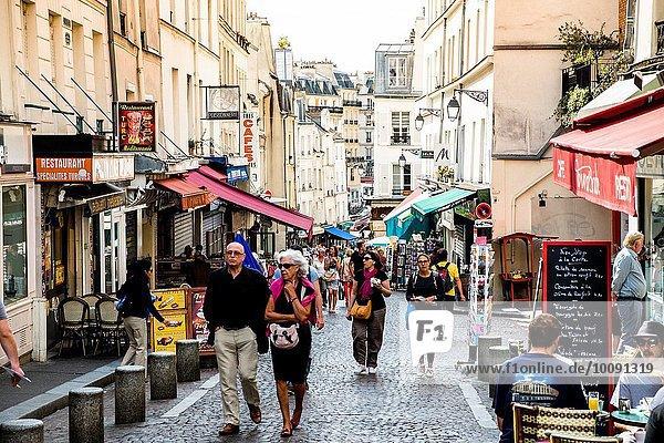 Paris Hauptstadt Frankreich Straße Markt