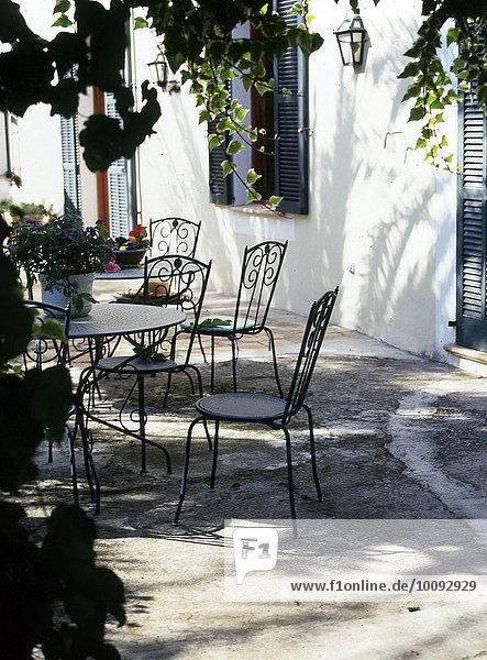 Stuhl Garten Terrasse Tisch