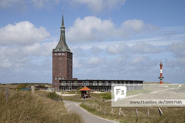 Westturm  Jugendherberge  Neuer Leuchtturm  Wangerooge  Ostfriesische Insel  Ostfriesland  Niedersachsen  Deutschland  Europa