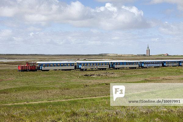 Inselbahn  Wangerooge  Ostfriesische Insel  Ostfriesland  Niedersachsen  Deutschland  Europa