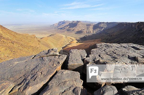 Berglandschaft am Amogjar Pass  bei Atar  Region Adrar  Mauretanien  Afrika
