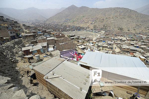 'Armenviertel ''200 Zone D''  Huaycan  Lima  Peru  Südamerika'