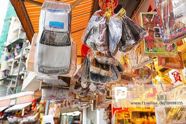 Religiöse Opfergaben aus Karton für buddhistische Beerdigungen