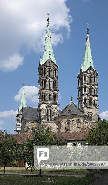 Bamberger Dom  Bamberg  Oberfranken  Bayern  Deutschland  Europa