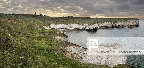 Flamborough Head und Selwicks Bay  Bridlington  Yorkshire  England  Großbritannien  Europa